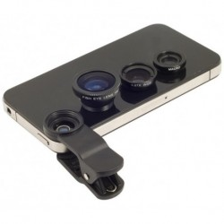 Kit Lentes Celular 3en1 Ojo De Pez Gran Angular Macro Selfie (Entrega Inmediata)