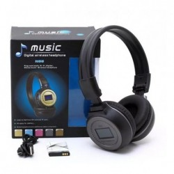 Audifonos Bluetooth Diadema Pantalla Microsd Radio Flexible (Entrega Inmediata)
