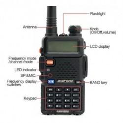 Radio Teléfono Profesional Baofeng Uv5r 136-174/400-520mhz (Entrega Inmediata)