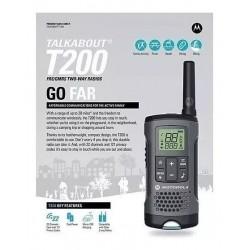 Radios De Comunicación Walkie Talkie Motorola T200 Talkabou (Entrega Inmediata)