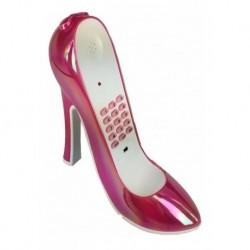 Teléfono Fijo Zapato Tacón Rojo Diseño Boca Alámbrico (Entrega Inmediata)