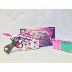 Pistola De Dardos Espuma Para Niña Rosada (Entrega Inmediata)