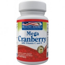 Mega Cranberry Arándanos 60 Softgels Healthy America (Entrega Inmediata)
