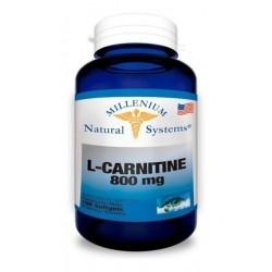 L- Carnitine L Carnitina 800mg 100 Cápsulas Blandas Systems (Entrega Inmediata)