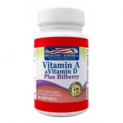 Vititamin A 10,000 Iu & Vit D 400 Iu Plus Bilberry Healthy A (Entrega Inmediata)