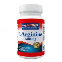 L-arginine 500 Mg Healthy America X 50 Caps (Entrega Inmediata)