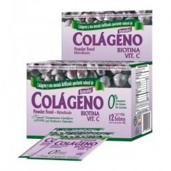 Colágeno Hidrolizado Sabor Uva Caja 12 Sobres (Entrega Inmediata)