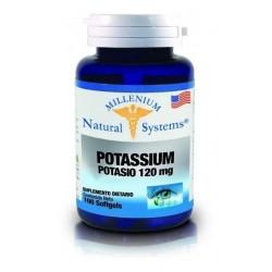 Potassium 120mg X 100 Softgels Natural Systems (Entrega Inmediata)