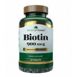 Biotin 900mcg 60 Tabletas Medical Green (Entrega Inmediata)