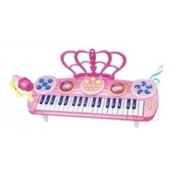 Piano Organeta Para Niñas Rosa 37 Teclas, Micrófono + Envío (Entrega Inmediata)