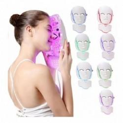 Mascara Facial Led Con Cuello Fotonica 7 Colores (Entrega Inmediata)