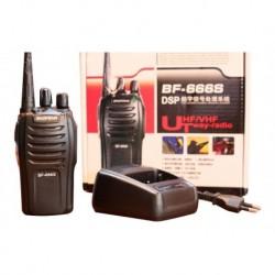 Radio Comunicaciones Baofeng X 2 Bf 666s Negro 3km Boquitoki (Entrega Inmediata)