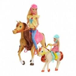 Barbie Y Chelsea Con Caballos Y Accesorios Mattel Fxh15 (Entrega Inmediata)