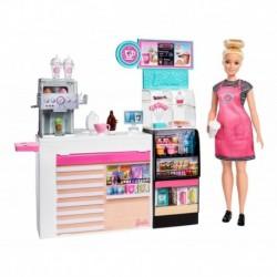 Set Cafetería Barbie Mattel Gmw03 Muñeca Cocina Niñas (Entrega Inmediata)