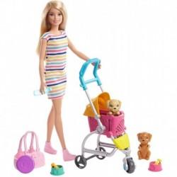 Barbie Y Su Carrito Para Mascotas Rubia Con Perritos Ghv92 (Entrega Inmediata)
