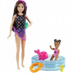 Muñeca Barbie Skipper Piscina Delfín Hermanita Mattel Grp39 (Entrega Inmediata)