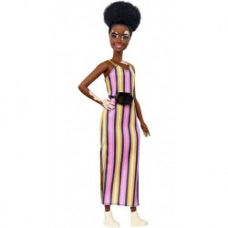 Barbie Fashionista 135 Vitiligo Vestido Rayas Mattel Ghw51 (Entrega Inmediata)
