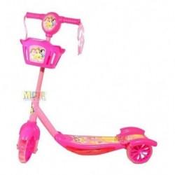 Scooter Patineta Princesas Niñas Luces Canasta 3 Rue Rosada (Entrega Inmediata)