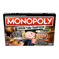 Monopoly Edición Tramposos Español Hasbro Ref E1871 Cárcel (Entrega Inmediata)