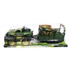 Carro Jeep Militar Con Remolque Carga Soldado Ref. 363f-12 (Entrega Inmediata)