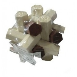 Cubo De Madera Armable Ref Bs65 Juguete Troncos Destreza (Entrega Inmediata)
