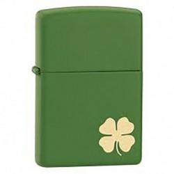 ¡ Zippo Stamp Moss Shamrock 21032 Green Matte - Verde !! (Entrega Inmediata)