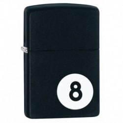 ¡ Zippo Stamp 8-ball Lighter 28432 Black Matte - Negro !! (Entrega Inmediata)