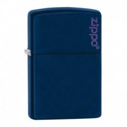 ¡ Encendedor Zippo Colors Navy Blue Con Logo 239zl - Azul !! (Entrega Inmediata)