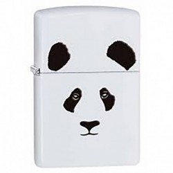 ¡ Zippo Stamp Panda Face Image 28860 White Matte - Blanco !! (Entrega Inmediata)