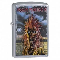 ¡ Zippo Stamp Zippo Iron Maiden 29433 - Plateado !! (Entrega Inmediata)