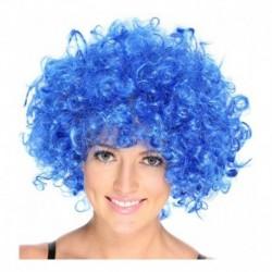 ¡ Peluca Afro De Fantasía Azul !! Peluca-afro/azul (Entrega Inmediata)