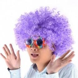¡ Peluca Afro Lila Fantasía Fiesta Halloween Hora Loca !! (Entrega Inmediata)