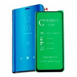 Flip Cover De Lujo Tipo Espejo + Vidrio Xiaomi Mi 10t Lite (Entrega Inmediata)
