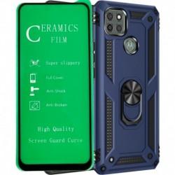 Funda Estuche Antichoque + Vidrio Ceramic Motorola G9 Power (Entrega Inmediata)