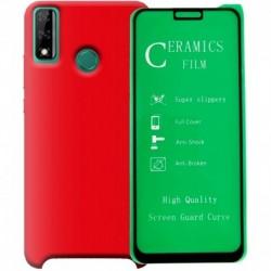 Funda Estuche Silicone Case + Vidrio Ceramico Huawei Y8s (Entrega Inmediata)