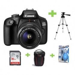 Camara Canon Eos 4000d- Rebel T100+18-55+16gb+bolso+kit+trip (Entrega Inmediata)