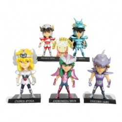 Set X 5 Figuras Anime De Caballeros Del Zodiaco (Entrega Inmediata)