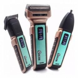 Afeitadora Patillera Gemei 3 En 1 Recargable + Cabezales (Entrega Inmediata)