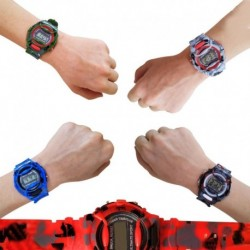 Reloj Niño Camuflaje Juguete Led Digital Jugueteria Pulso (Entrega Inmediata)