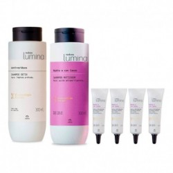 Shampoo Detox + Shampoo Matizador + Ampollas Lumina (Entrega Inmediata)