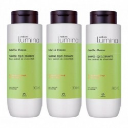 3 Shampoo Equilibrante Cabello Oleoso Lumina Natura (Entrega Inmediata)