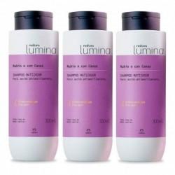 3 Shampoo Matizador Rubio O Con Canas Lumina Natura (Entrega Inmediata)