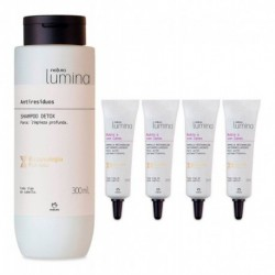 Shampoo Detox + Ampollas Restauración Lumina Natura (Entrega Inmediata)