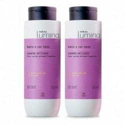 2 Shampoo Matizador Rubio O Con Canas Lumina Natura (Entrega Inmediata)