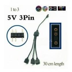 Multiplicador Argb 1 A 3 Para Ventiladores Y Tiras Led +pin (Entrega Inmediata)