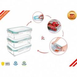 Kit X3 Porta Comida Hermetica Tapacierre Envio Gratis (Entrega Inmediata)