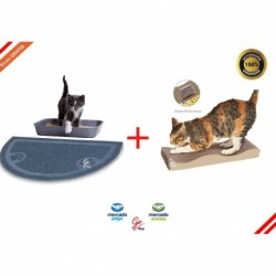Kit Tapete Salida Arenero Gato Persa + Rascador Para Gato (Entrega Inmediata)