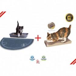 Kit Tapete Salida Arenero Gato Angora + Rascador Para Gatos (Entrega Inmediata)