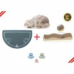 Kit Rascador Anti Estrés + Tapete Recolector Arena Gato (Entrega Inmediata)