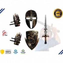 Espada De Vikingo Didactico Kit + Armadura Completa Niños (Entrega Inmediata)